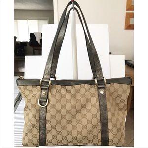 💯Authentic Gucci Abbey GG Monogram Shoulder Bag